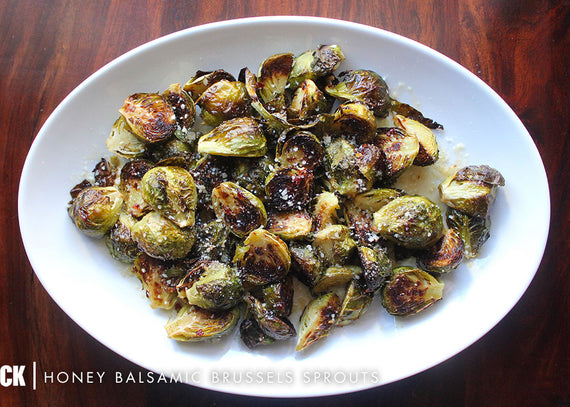 Honey Balsamic Brussels Sprouts