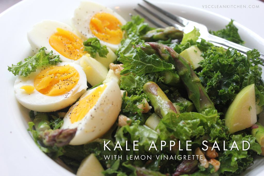 Kale Apple Salad with Lemon Vinaigrette