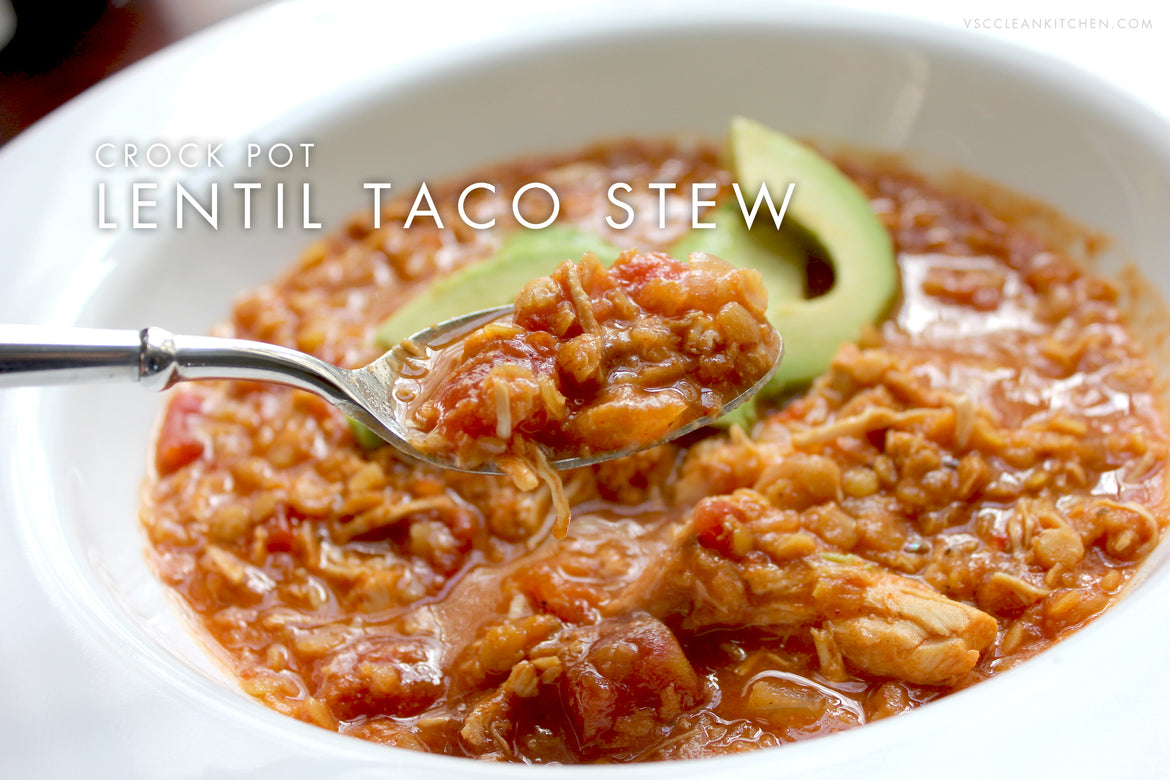 Crock Pot Lentil Taco Stew