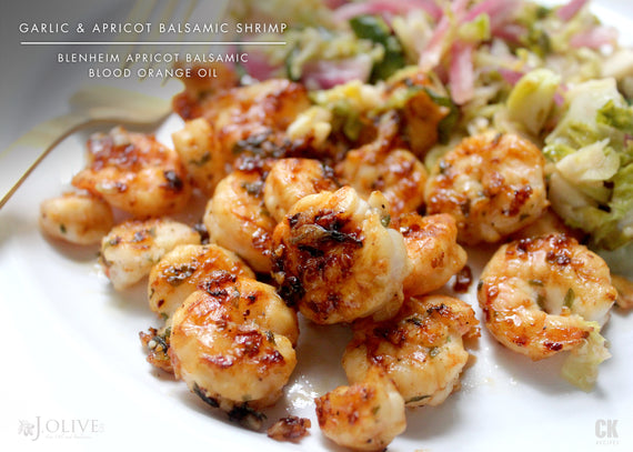 Garlic & Apricot Balsamic Shrimp