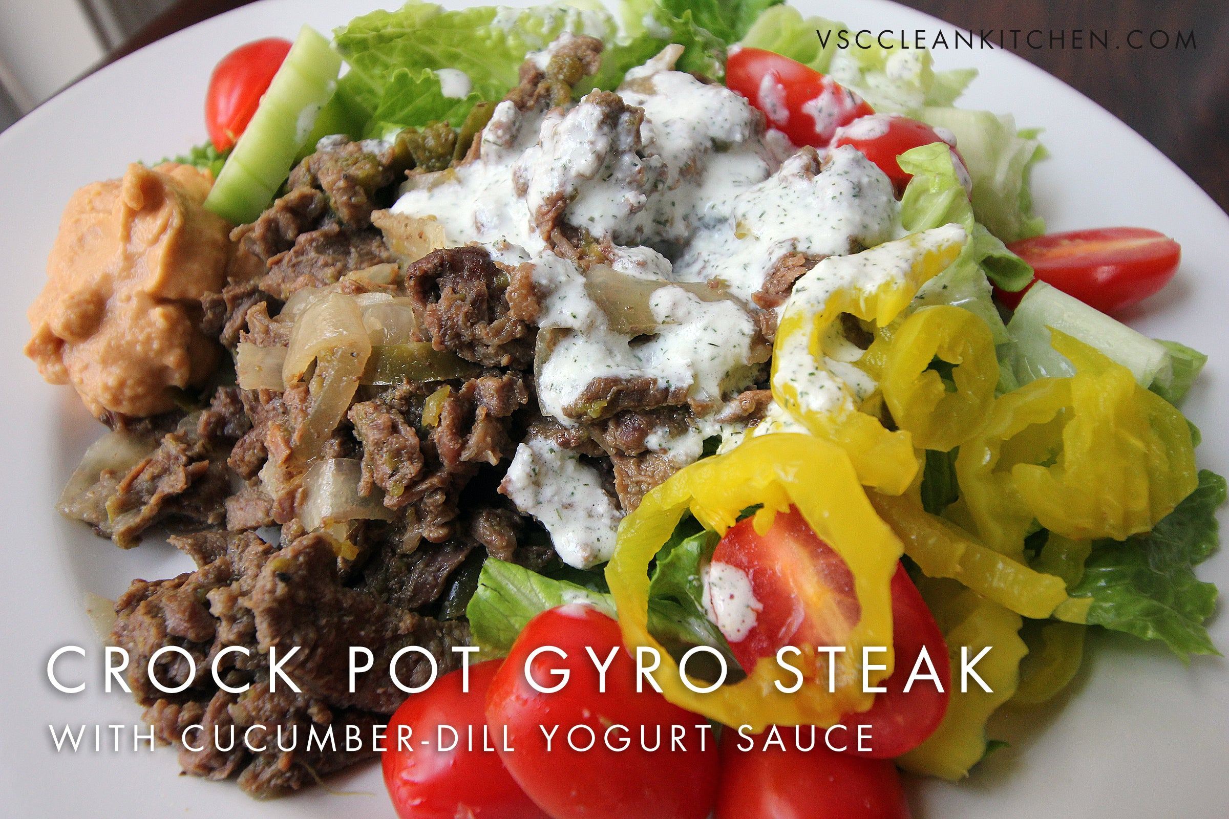 Crock Pot Gyro Steak