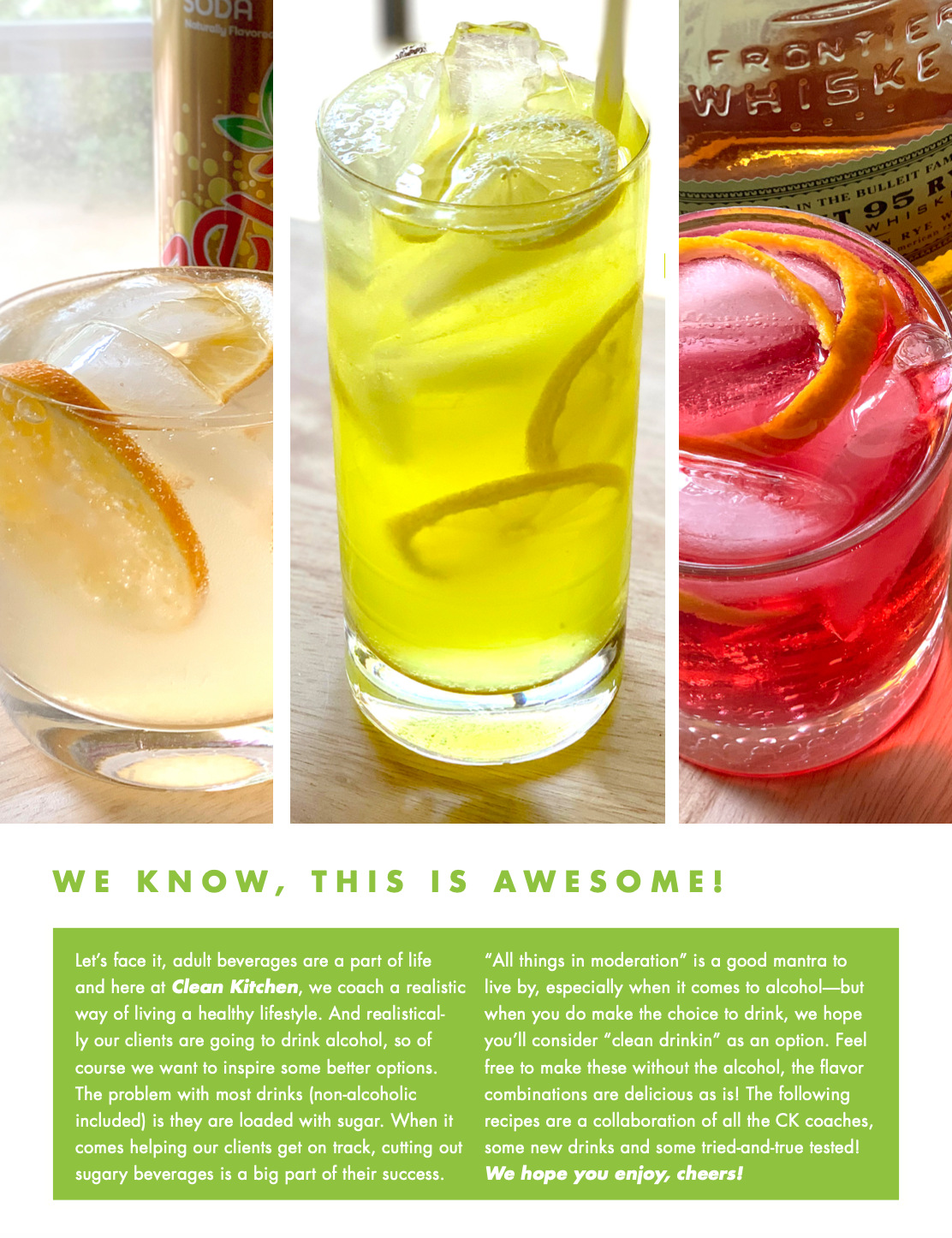Clean Kitchen's Clean Drinkin eBook