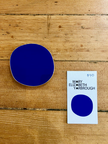Enamel Pin/Sculpture by Mary Elizabeth Yarbrough - Blue Dot