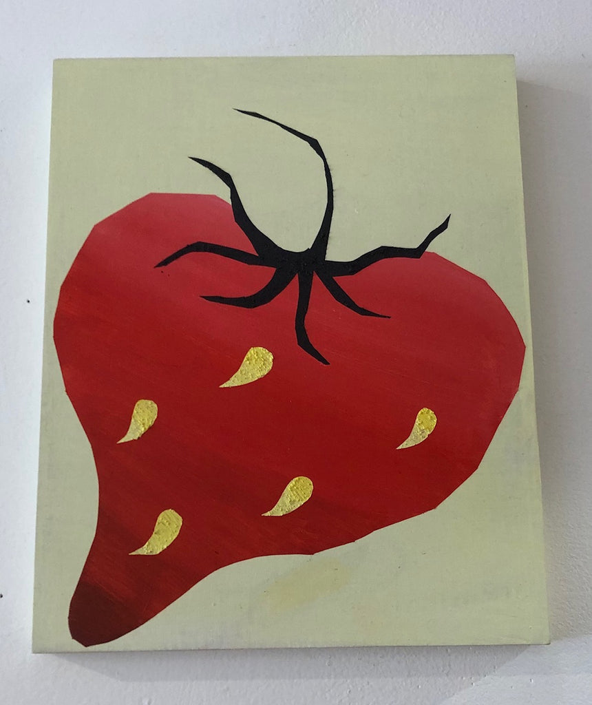 Ari Bird Painting (Small Strawberry)