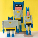 Batman Wood Sculptures by Mark Mulroney