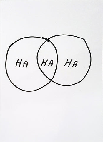 HA HA HA Print by Katy Kosman