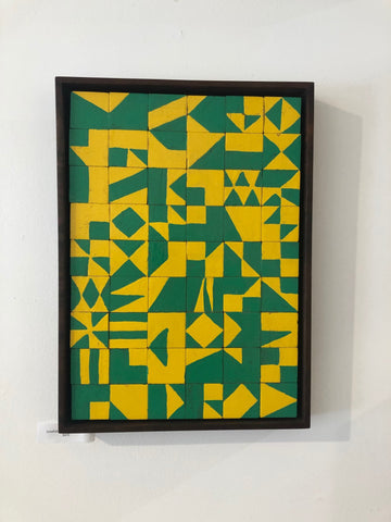 Jon Anzalone Painting (Green and Yellow), 2019