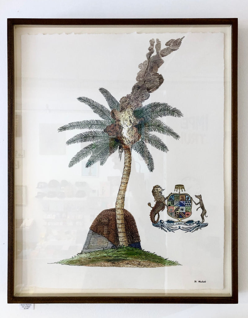Martin Machado Painting (palm with crest)
