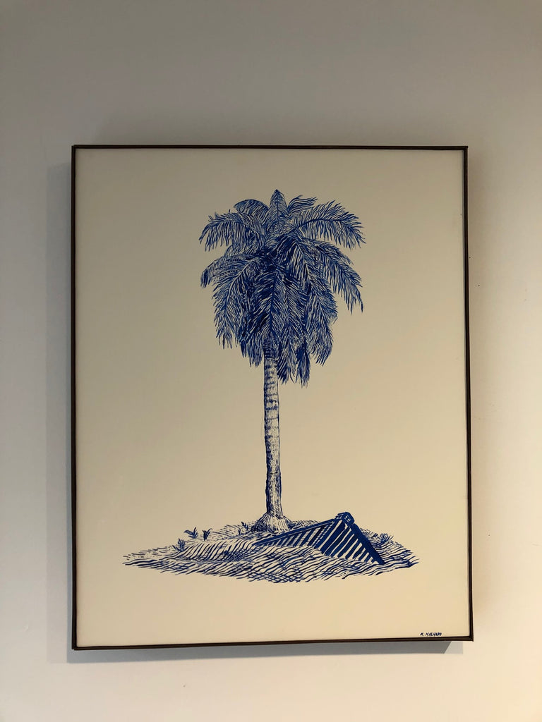 Martin Machado Painting (blue palm)