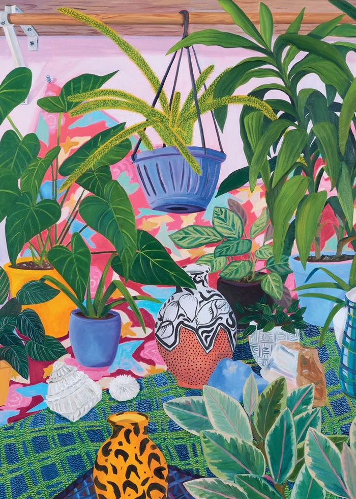Jigsaw Puzzle - Studio Plants - by Anna Valdez