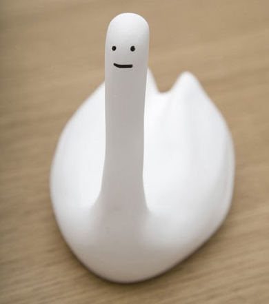 DAVID SHRIGLEY SWAN SCULPTURE