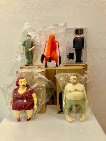 Set of Tokion Vinyl Figures - McGee, Kilgallen, Fairey, Os Gemeos, Stash