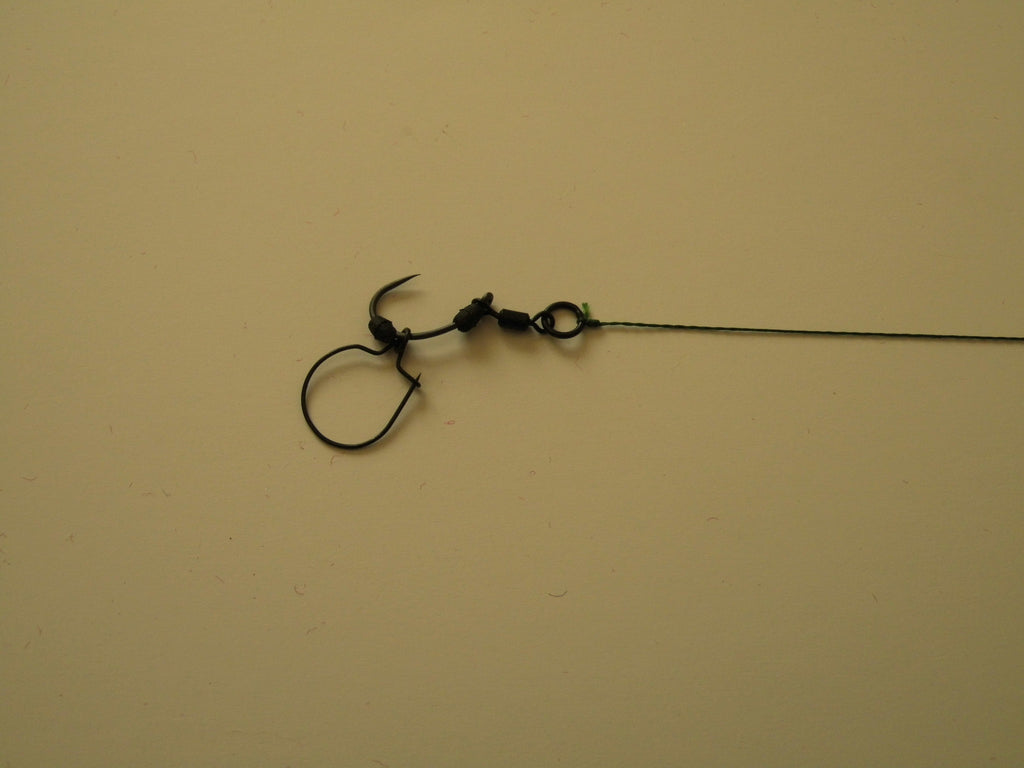 5 maggot clip hair rigs 15lb coated brown braid,carp course PTFE COATED hooks