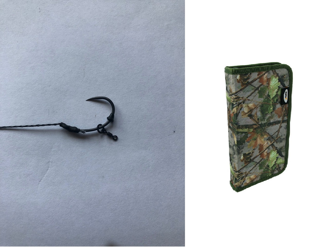 Copy of 20 German Rigs With ring swivel & camo rig wallet