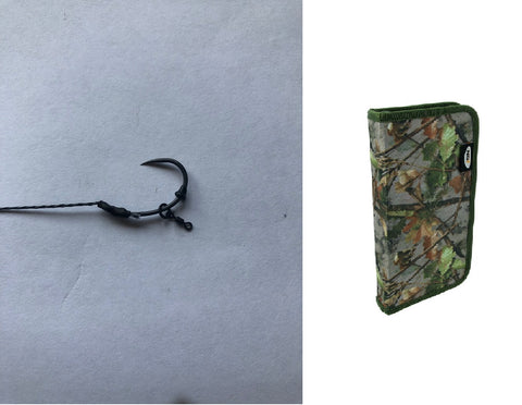 10 German Rigs With ring swivel & camo rig wallet