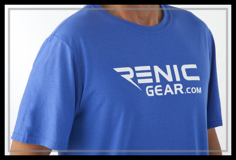 Renic Performance T-shirt Mens front Royal Blue