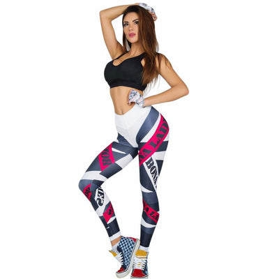 Bona Ladies Text Wrap Quick Dry Leggings