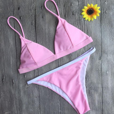 Cotton Candy Triangle Bikini