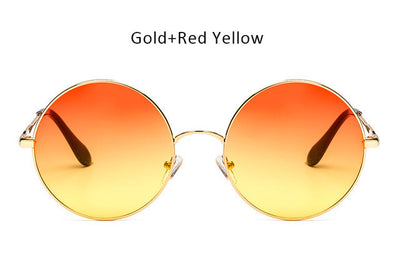 Retro Metal Circle Sunglasses