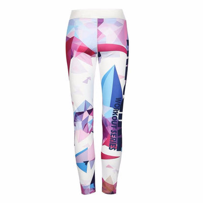 Graphic Print Fitness Pants