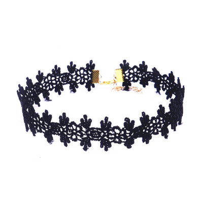 Royal Floral Lace & Velvet Choker Set (10 pcs.)