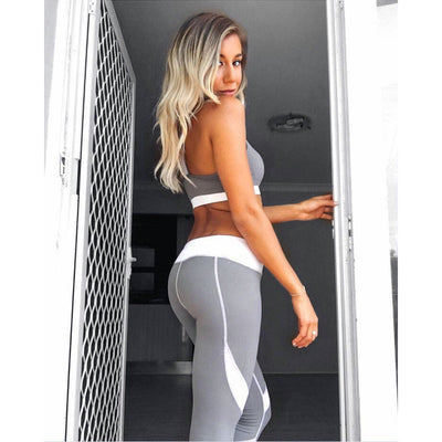 White Stripe Leggings