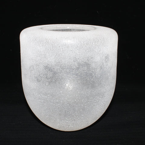 Frosty white vessel for La Pai gallery