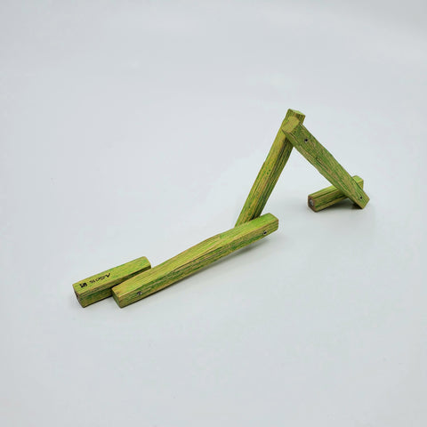 Green Maple Bracelet. Cleverly hinged to allow movement,  this charming wearable sculpture is light on the wrist.