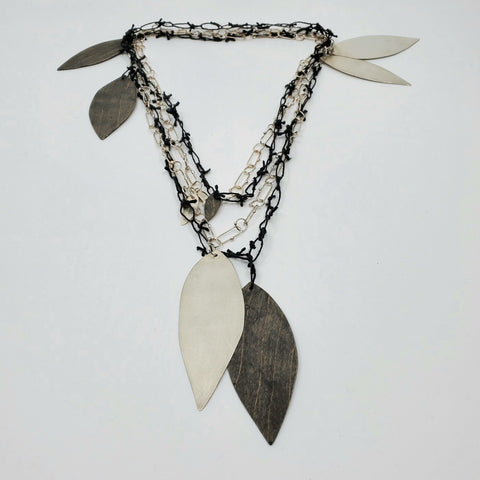 Long double black and white necklace for La Pai gallery