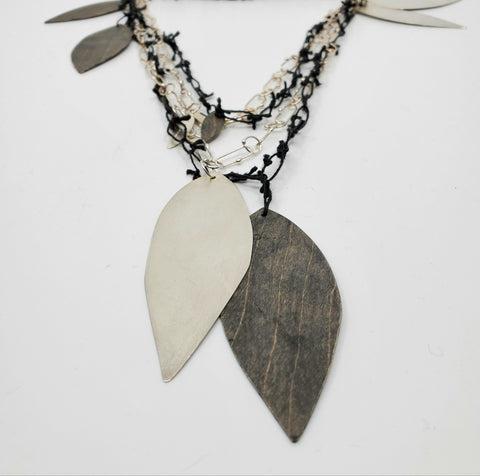 Leaf long necklace by Sandra goss for Pai gallery
