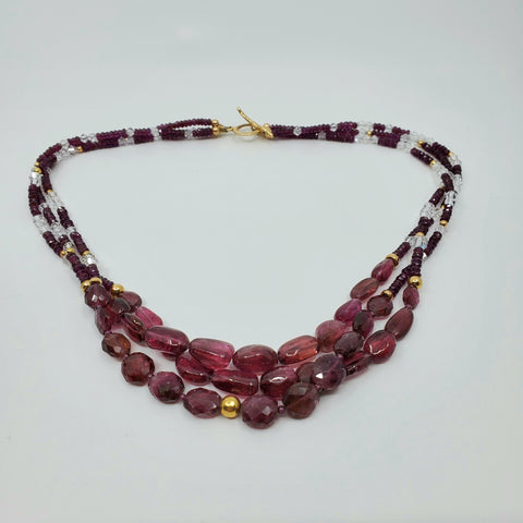 Rubellite go to light and cold necklace