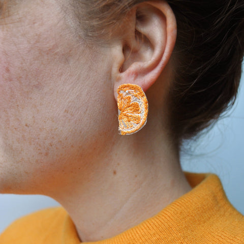 Orange Slice Earrings, mini