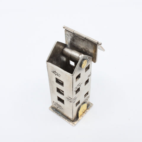 Andree Chenier Sterling silver Apartment Box with gold leaf details.