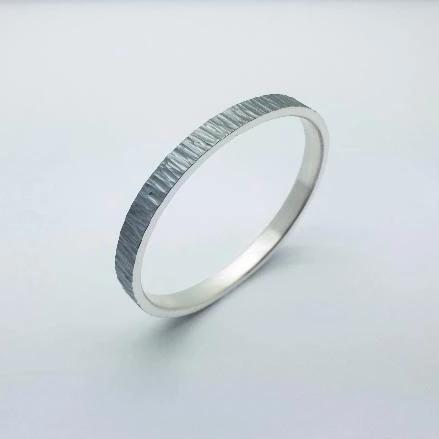 Bangle - Ripple Collection  Handmade with sterling silver and oxidized