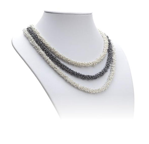 "The longest sterling silver necklace pictured is 18""/46 cm.  The ShikShok Series necklaces and bracelets can be of any desired length."