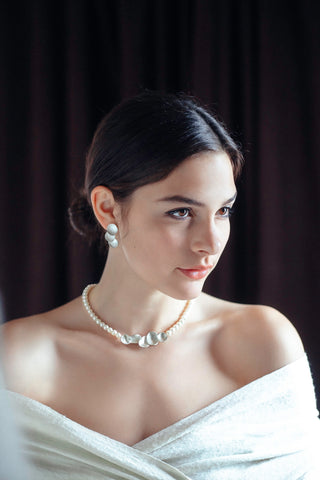 Dorothee Rosen's triple moon pearl set