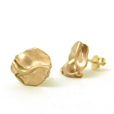 Annie Tung 14K gold stud earrings