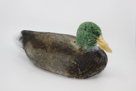 Glass duck by Gayle Buzzi