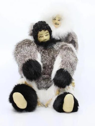 Packing Fur Doll with baby  Taloyoak, Nunavut