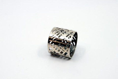 Map Ring, Size 12, sterling silver  2 cm