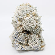 "Landscape detail, crystal ceramic sculpture, each crystal hand made, 7"" x 6""."