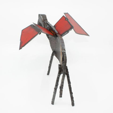 "Pegasus Oiseaux, found metal sculpture  11 x 9 x 10"" approx."