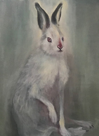 Hare painting by Erin Robertson