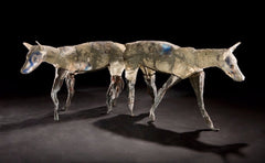 Coyote Sculptures by Kevin Lockau