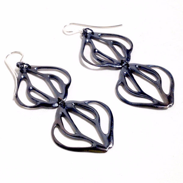 Fade / Symmetry earrings in sterling silver.