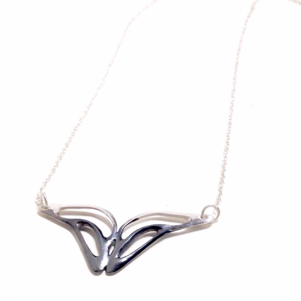 Symmetry necklace (single) in sterling silver.