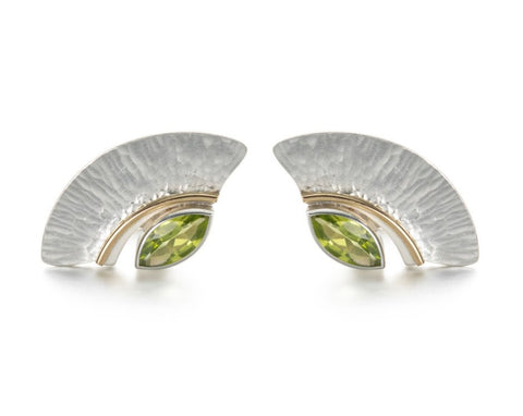 Peridot marquise earrings by Petra Luz