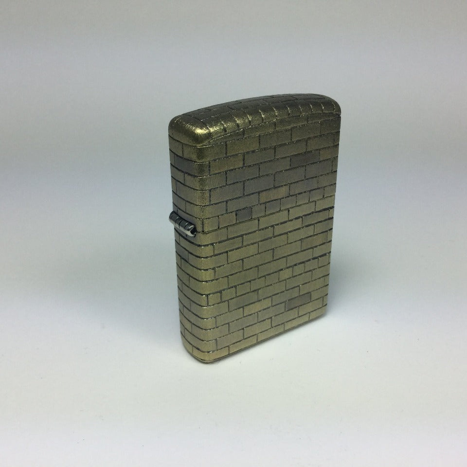Brick Fireplace (edition of 3), beautifully functioning hand-etched brass Zippo lighter. 5.5 cm x 4 cm x 1.5 cm