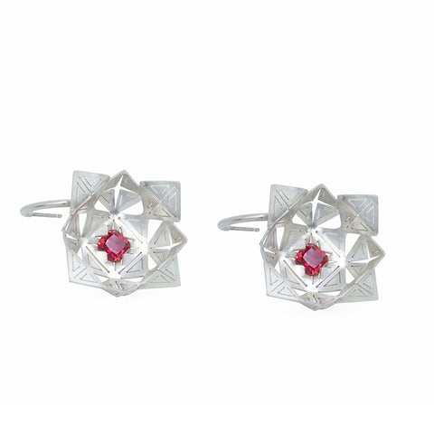 Ruby flora earrings