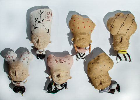 Young at Heart - A series of ceramic wall sculptures. $800 each.